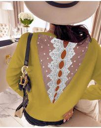 Блуза - код 7077 - окер