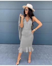 Фустан - код 1030 - сиво