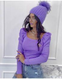 Блуза - код 2180 - 3 - виолетова