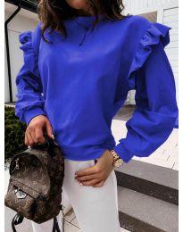 Блуза - код 6613 - темно сина