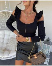 Блуза - код 2380 - 3 - црна