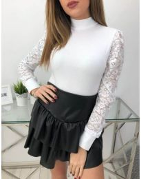 Блуза - код 4269 - бело