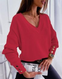 Блуза - код 5236 - црвена