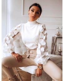 Блуза - код 3505 - бело