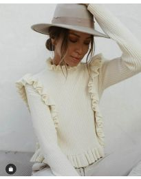 Блуза - код 9656 - бело