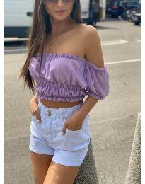 Блуза - код 1162 - виолетова
