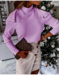 Блуза - код 1596 - 3 - виолетова