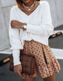 Блуза - код 0657 - 1 - бело