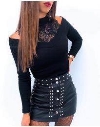 Блуза - код 4254 - црна
