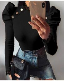 Блуза - код 9630 - 3 - црна