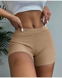 Кратки панталони - код 10155 - капучино