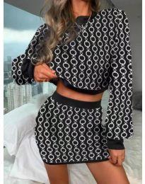 Фустан - код 9555 - 7 - шарена