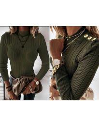 Блуза - код 9930 - путер зелена