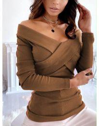 Блуза - код 0308 - кафеава