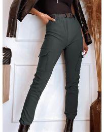 Панталони - код 4842 - темно сива
