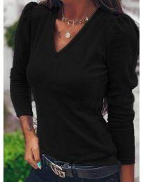Блуза - код 0755 - црна