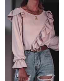 Блуза - код 6009 - пудра