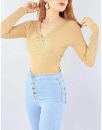 Блуза - код 6455 - капучино