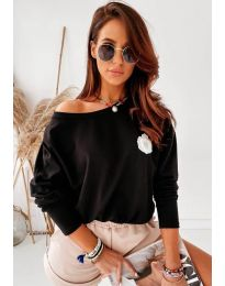 Блуза - код 4026 - црна