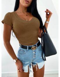 Блуза - код 756 - кафеава