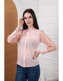 Блуза - код 0631 - 4 - розова