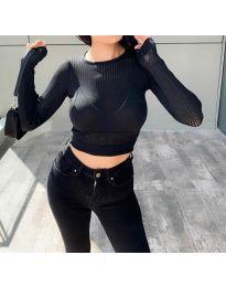 Блуза - код 8750 - црна