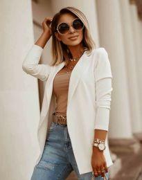 Дамско сако в бяло - код 2365