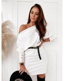 Фустан - код 4442 - бело