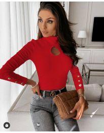 Блуза - код 9917 - 4 - црвена