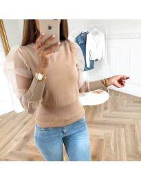 Блуза - код 3460 - кремова