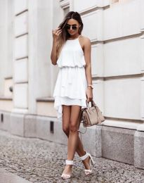 Фустан - код 2104 - бело