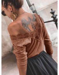 Блуза - код 188 - кафеава