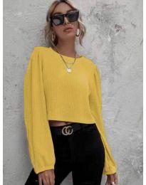 Блуза - код 5932 - жолта