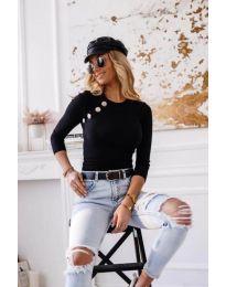 Блуза - код 3151 - 3 - црна