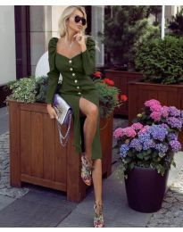Фустан - код 4418 - путер зелена