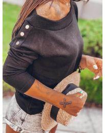 Блуза - код 4417 - црна