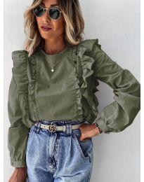 Блуза - код 6615 - зелена