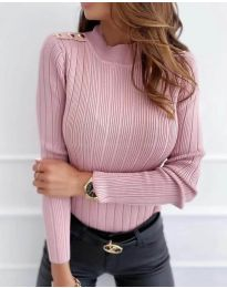 Блуза - код 8727 - 2 - пудра