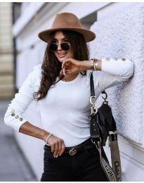 Блуза - код 4448 - 1 - бело