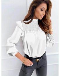 Блуза - код 6202 - бело
