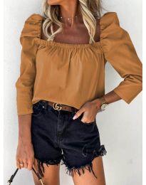 Блуза - код 9906 - кафеава
