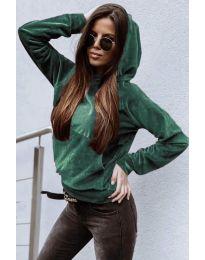Блуза - код 9891 - зелена