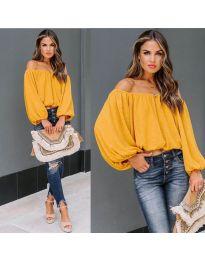 Блуза - код 6674 - окер