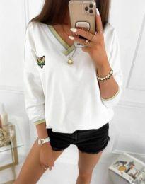 Блуза - код 9173 - 2 - бело
