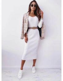 Фустан - код 5878 - бело