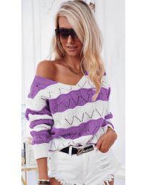 Блуза - код 8689 - виолетова