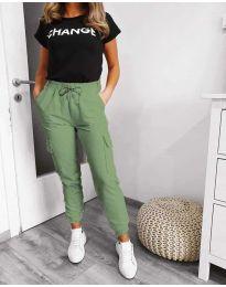 Панталони - код 3089 - 1 - зелена