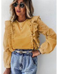 Блуза - код 6615 - окер