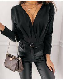 Блуза - код 5525 - црна