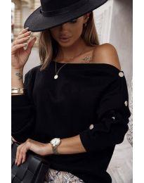 Блуза - код 4640 - црна